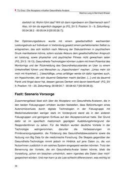 Bild der Seite - 36 - in Die Akzeptanz virtueller Gesundheits-Avatare - Eine Fokusgruppenanalyse, Band 1