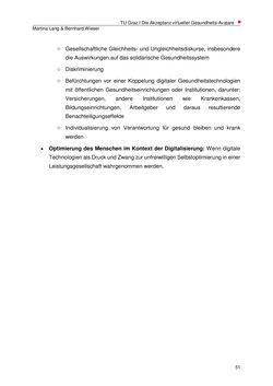 Bild der Seite - 51 - in Die Akzeptanz virtueller Gesundheits-Avatare - Eine Fokusgruppenanalyse, Band 1