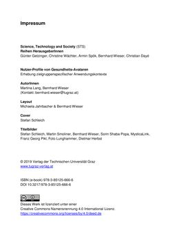 Bild der Seite - (000002) - in Nutzer-Profile von Gesundheits-Avataren - Erhebung zielgruppenspezifischer Anwendungskontexte, Band 2