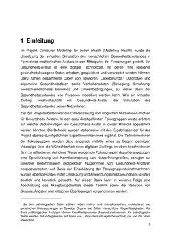 Bild der Seite - 9 - in Nutzer-Profile von Gesundheits-Avataren - Erhebung zielgruppenspezifischer Anwendungskontexte, Band 2