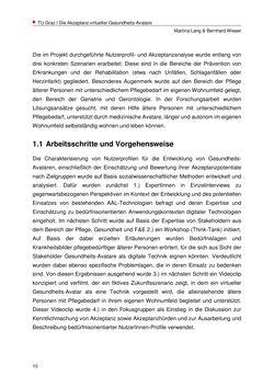 Bild der Seite - 10 - in Nutzer-Profile von Gesundheits-Avataren - Erhebung zielgruppenspezifischer Anwendungskontexte, Band 2