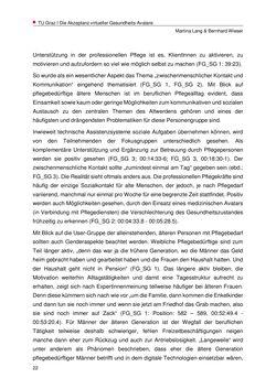 Bild der Seite - 22 - in Nutzer-Profile von Gesundheits-Avataren - Erhebung zielgruppenspezifischer Anwendungskontexte, Band 2