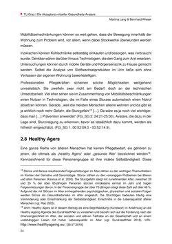Bild der Seite - 24 - in Nutzer-Profile von Gesundheits-Avataren - Erhebung zielgruppenspezifischer Anwendungskontexte, Band 2