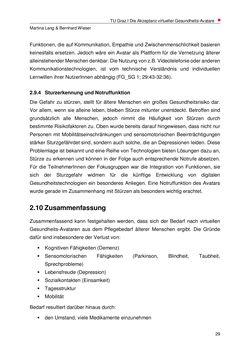 Bild der Seite - 29 - in Nutzer-Profile von Gesundheits-Avataren - Erhebung zielgruppenspezifischer Anwendungskontexte, Band 2