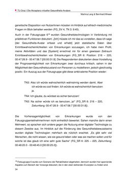 Image of the Page - 34 - in Nutzer-Profile von Gesundheits-Avataren - Erhebung zielgruppenspezifischer Anwendungskontexte, Volume 2