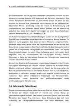 Bild der Seite - 36 - in Nutzer-Profile von Gesundheits-Avataren - Erhebung zielgruppenspezifischer Anwendungskontexte, Band 2