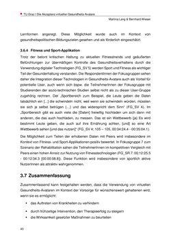Bild der Seite - 40 - in Nutzer-Profile von Gesundheits-Avataren - Erhebung zielgruppenspezifischer Anwendungskontexte, Band 2