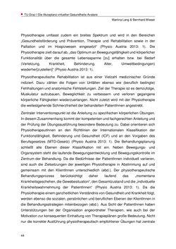 Image of the Page - 44 - in Nutzer-Profile von Gesundheits-Avataren - Erhebung zielgruppenspezifischer Anwendungskontexte, Volume 2