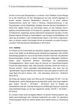 Bild der Seite - 54 - in Nutzer-Profile von Gesundheits-Avataren - Erhebung zielgruppenspezifischer Anwendungskontexte, Band 2