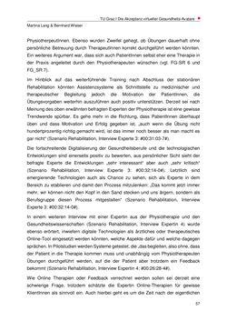 Bild der Seite - 57 - in Nutzer-Profile von Gesundheits-Avataren - Erhebung zielgruppenspezifischer Anwendungskontexte, Band 2