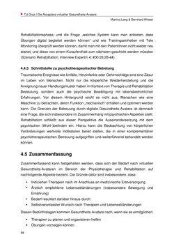 Bild der Seite - 58 - in Nutzer-Profile von Gesundheits-Avataren - Erhebung zielgruppenspezifischer Anwendungskontexte, Band 2