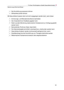 Bild der Seite - 59 - in Nutzer-Profile von Gesundheits-Avataren - Erhebung zielgruppenspezifischer Anwendungskontexte, Band 2